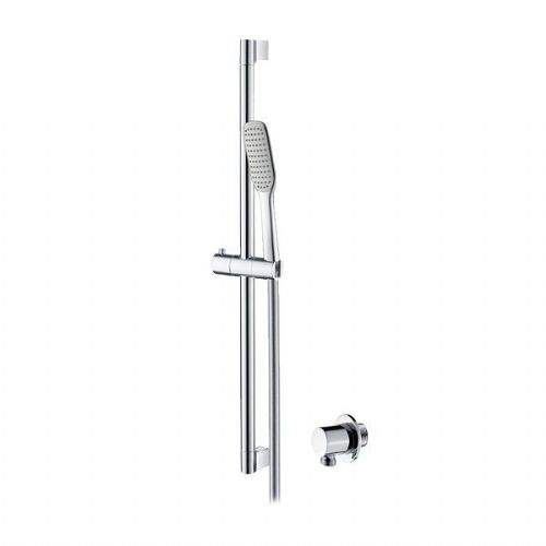 Round 250mm Cool To Touch Shower Kit With Handheld: Bar Mixer Showers